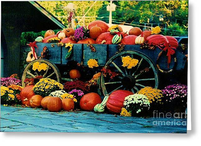 Harvest Time Greeting Cards - Harvest Time Greeting Card by Wanda-Lynn Searles