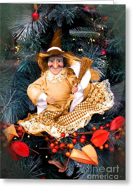 Terri Waters Greeting Cards - Harvest Witch Greeting Card by Terri  Waters