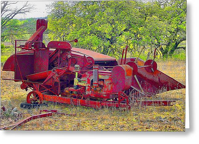Anti Greeting Cards - Harvester Combine Greeting Card by Brian King
