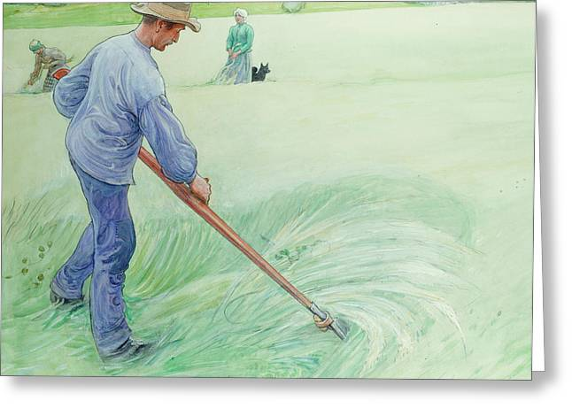 """hard Work"" Greeting Cards - Harvesters Greeting Card by Carl Larsson"