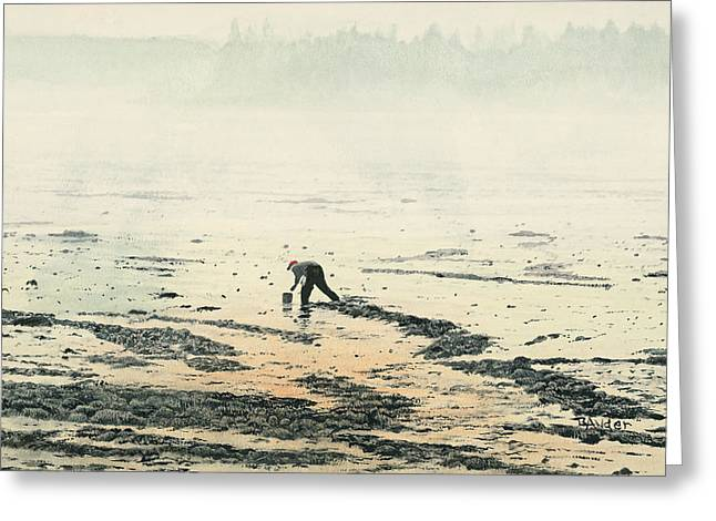 Maine Landscape Paintings Greeting Cards - Harvesting the Flats Greeting Card by Brent Ander