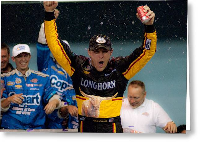Harvick Wins Greeting Card by Kevin Cable