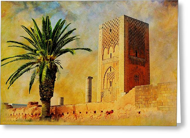 Essaouira Greeting Cards - Hassan Tower Greeting Card by Catf