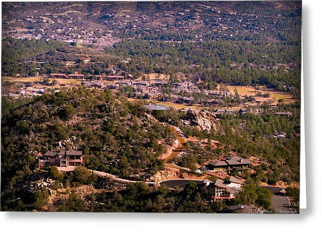 Prescott Greeting Cards - Hassayampa Village Homes Greeting Card by Aaron Burrows