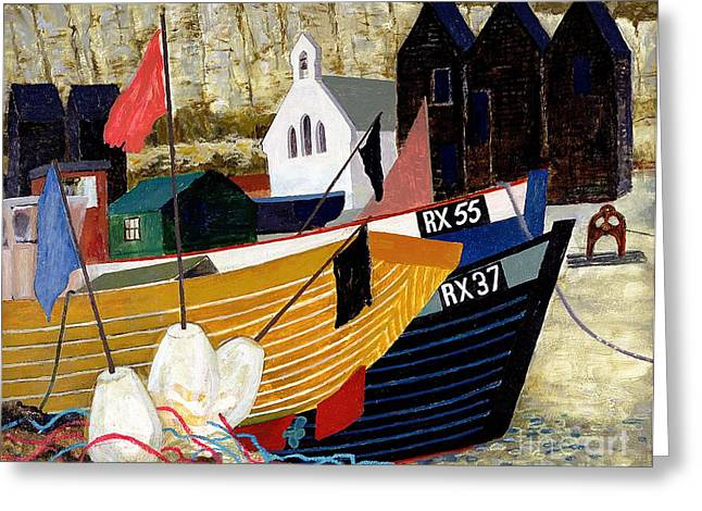 Seaport Greeting Cards - Hastings Remembered Greeting Card by Eric Hains