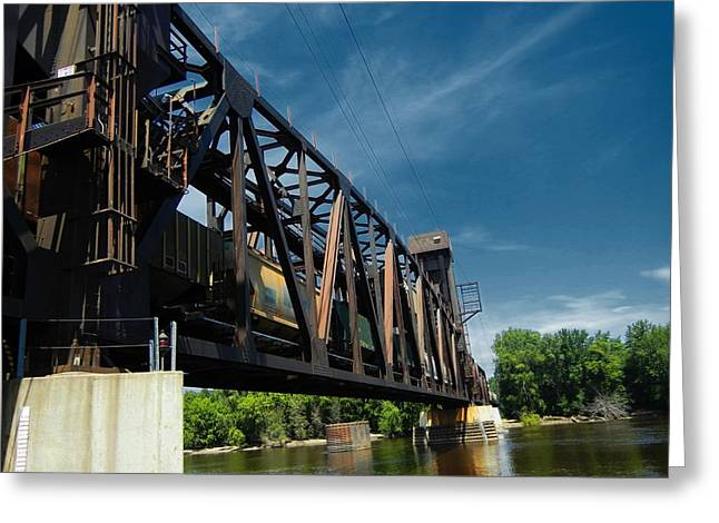 Hastings Train Bridge 2 Greeting Card by Todd and candice Dailey