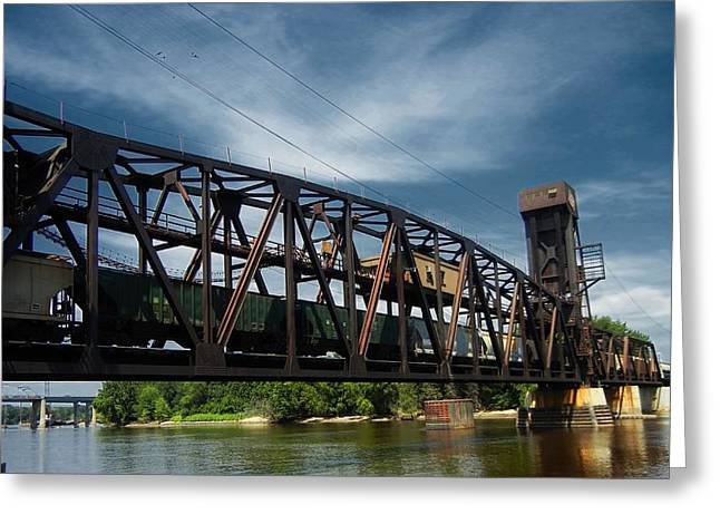 Hastings Train Bridge 3 Greeting Card by Todd and candice Dailey