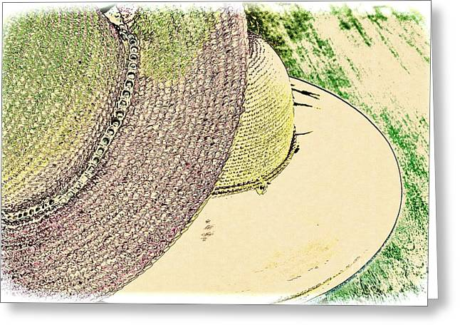 Wide Brim Hat Greeting Cards - Hat Day Greeting Card by Pamela Blizzard