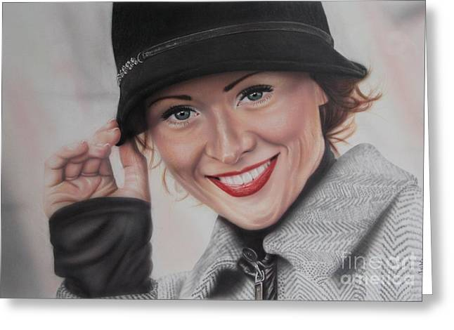 Painted Details Paintings Greeting Cards - Hat Greeting Card by Jackie Mestrom