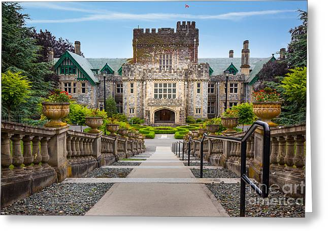 British Columbia Greeting Cards - Hatley Castle Greeting Card by Inge Johnsson