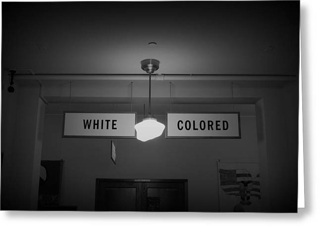 Segregated Schools Greeting Cards - Hatred bw Greeting Card by Elizabeth Sullivan