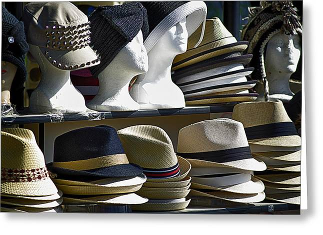 California Beach Greeting Cards - Hats for sale Greeting Card by Camille Lopez