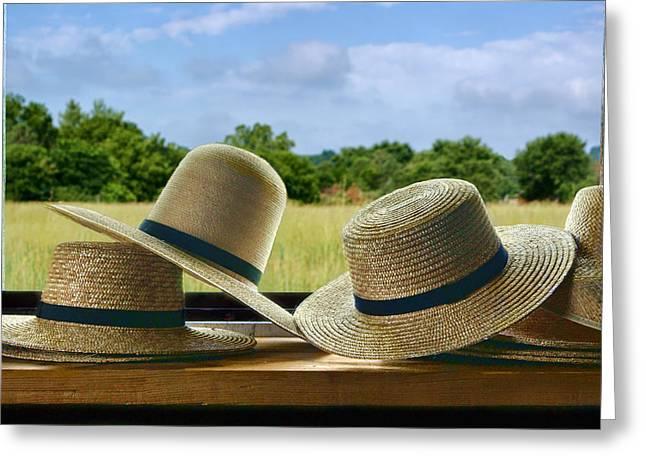 Sun Hat Greeting Cards - Hats Greeting Card by Nikolyn McDonald