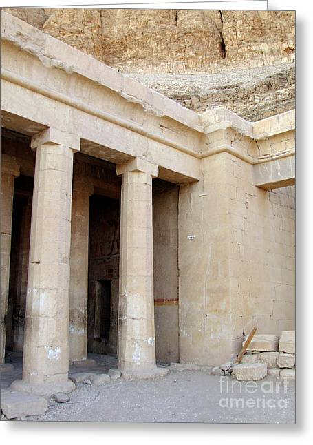 Pharaoh Greeting Cards - Hatshepsut temple 10 Greeting Card by Antony McAulay