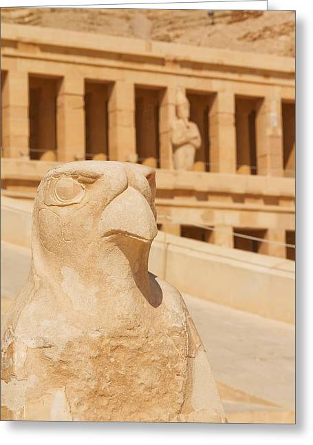 Hatchepsut Greeting Cards - Hatshepsut Temple  Greeting Card by Jaroslav Frank