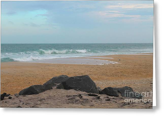 Offshore Rocks Greeting Cards - Hatteras Beach 2 Greeting Card by Cathy Lindsey