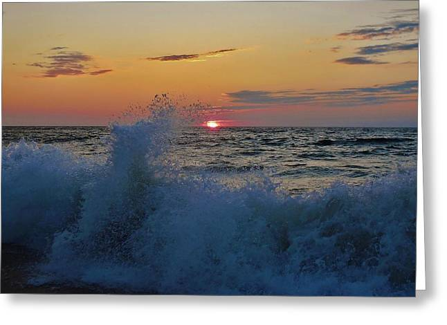 Fishing Boats Greeting Cards - Hatteras Island Sunrise 1 7/30 Greeting Card by Mark Lemmon