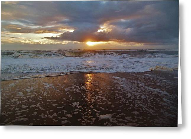 Sailboat Ocean Greeting Cards - Hatteras Island Sunrise 4 10/10 Greeting Card by Mark Lemmon
