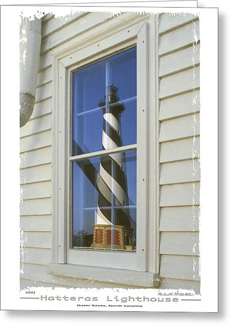 Vertical Digital Art Greeting Cards - Hatteras Lighthouse  S P Greeting Card by Mike McGlothlen
