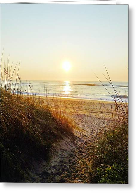 Snow Boarder Greeting Cards - Hatteras Sunrise 17 8/6 Greeting Card by Mark Lemmon