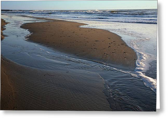 Hatteras Tidal Pools Greeting Card by Steven Ainsworth