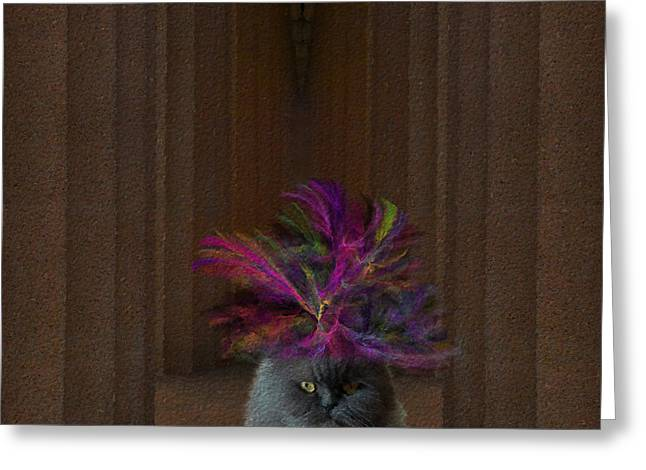Congressman Greeting Cards - Hattie McFluffy Goes To Washington Greeting Card by Diane Parnell