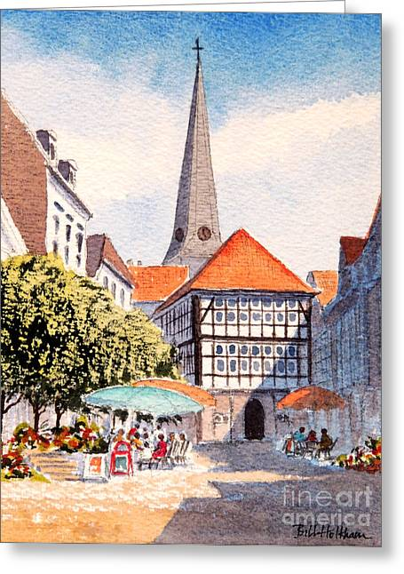 Light And Dark Greeting Cards - Hattingen Germany Greeting Card by Bill Holkham