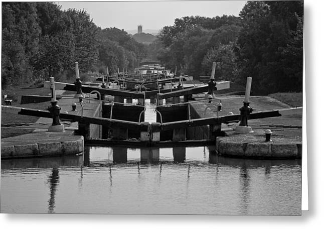 Warwick Greeting Cards - Hatton Locks Greeting Card by Chris Whittle