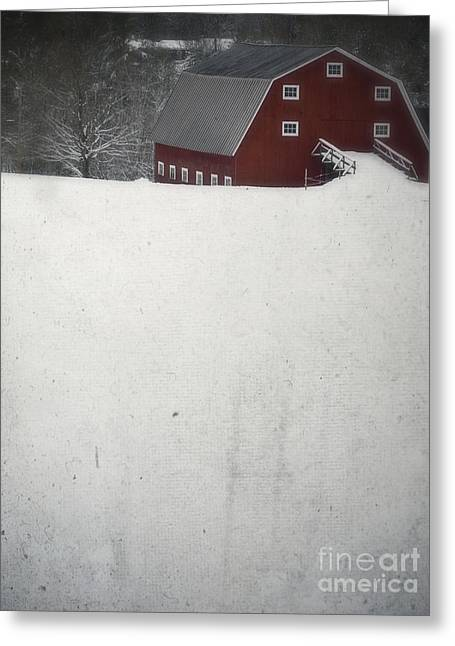 Frozen Photographs Greeting Cards - Haunted Barn Greeting Card by Edward Fielding