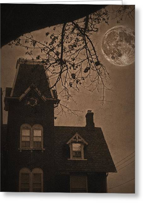 Haunted House Digital Greeting Cards - Haunted Greeting Card by DJ Florek