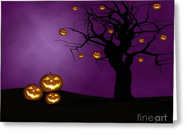 Holidays And Celebrations Greeting Cards - Haunted Halloween Greeting Card by Juli Scalzi