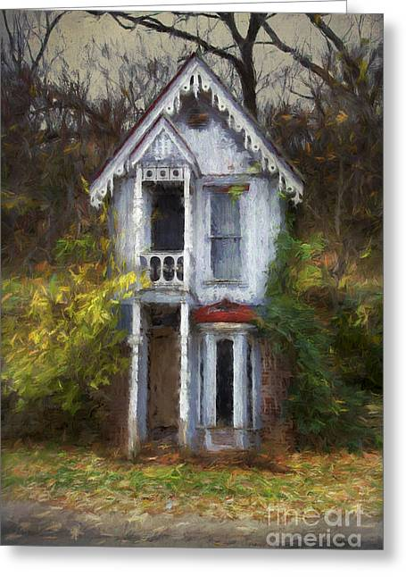Haunted House Digital Art Greeting Cards - Haunted house Greeting Card by Elena Nosyreva