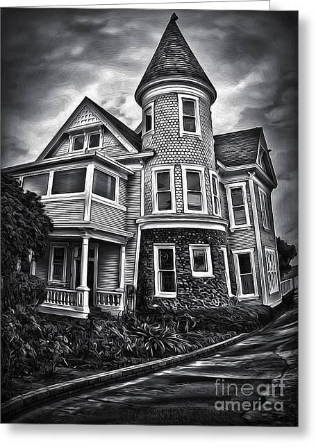 Haunted House Greeting Card by Gregory Dyer