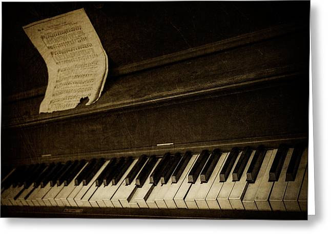Haunted Melody Greeting Card by Amy Weiss