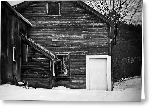 Haunted Old House Greeting Card by Edward Fielding