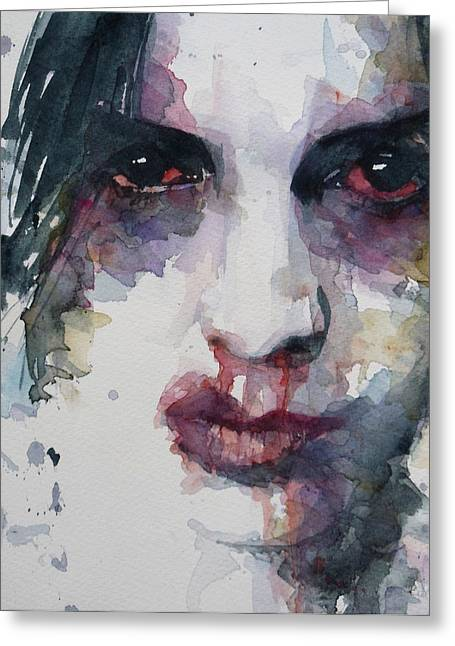 Sensitive Greeting Cards - Haunted   Greeting Card by Paul Lovering
