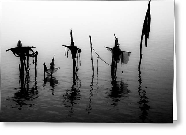 Wooden Sculpture Greeting Cards - Haunted River Greeting Card by Ross Muggivan
