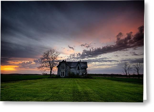 Abandoned Houses Greeting Cards - Haunted Sunset Greeting Card by Cale Best