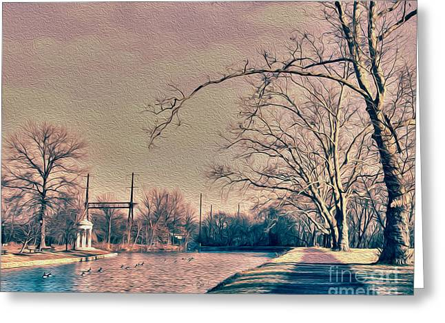 Haunted Trees  Greeting Card by Tom Gari Gallery-Three-Photography