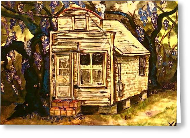 Condemned Paintings Greeting Cards - Haunted Wisteria Greeting Card by Alexandria Weaselwise Busen