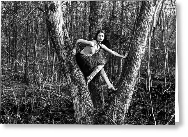 Ballet Dancers Photographs Greeting Cards - Hauntingly Besautiful Greeting Card by Ryan Crane