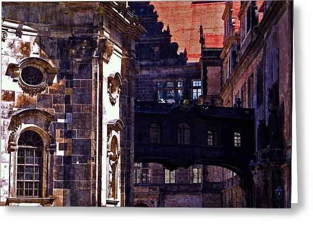 Deutschland Greeting Cards - Hausmann Tower in Dresden Germany Greeting Card by Jordan Blackstone