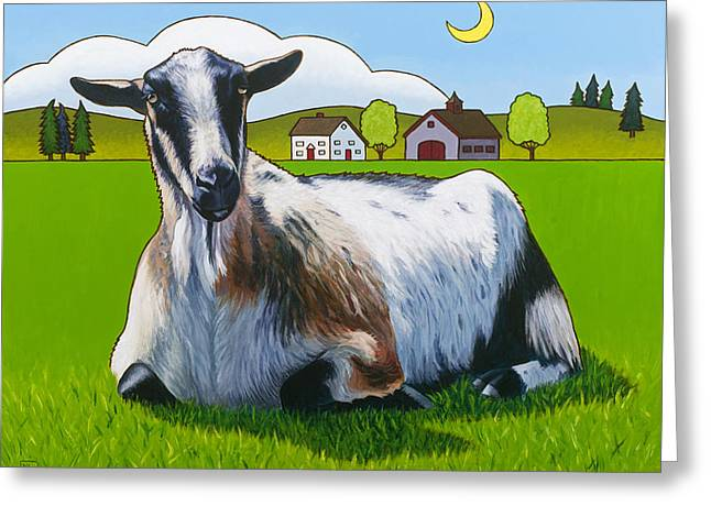 Goats Greeting Cards - Haute Goature Greeting Card by Stacey Neumiller