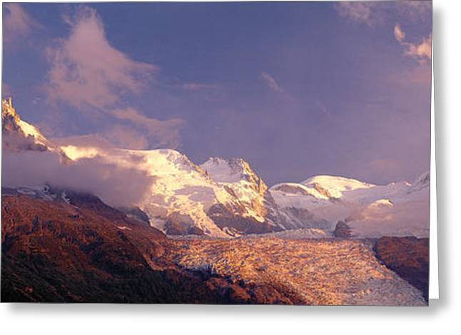 Sunlight Peaking Greeting Cards - Haute-savoie, Mountains, Mountain View Greeting Card by Panoramic Images