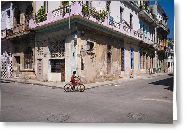 Caribbean Corner Greeting Cards - Havana Bicycle Greeting Card by Steven Chadwick