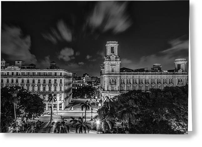 Habana Greeting Cards - Havana by Night Greeting Card by Erik Brede