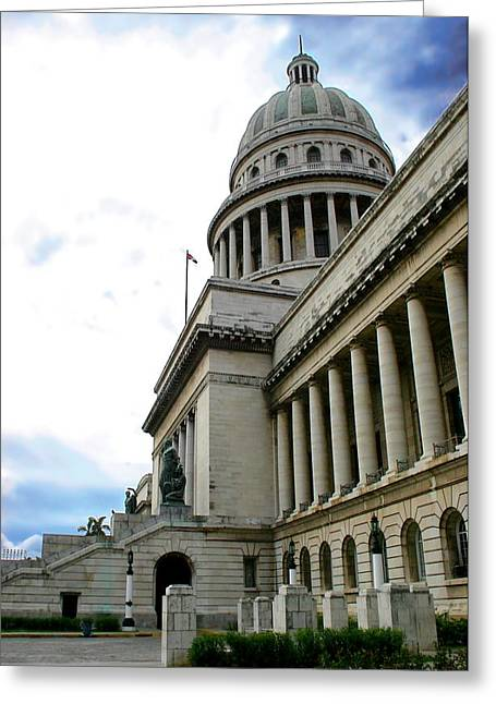 Gilberto Greeting Cards - Havana Capitol Greeting Card by Gilberto Gutierrez