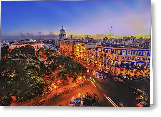 Wesley Allen Shaw Photography Greeting Cards - Havana Cuba Greeting Card by Wesley Allen Shaw