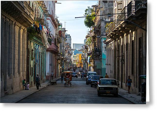 Havana Greeting Cards - Havana Morning Greeting Card by Jane Sheng
