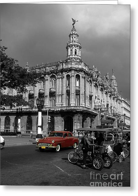 City And Colour Greeting Cards - Havana Red Greeting Card by James Brunker